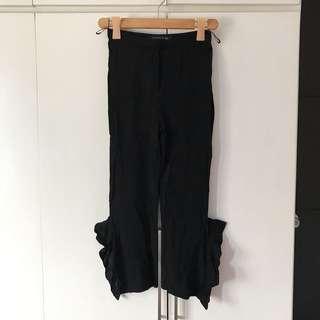 Zara ruffled trousers