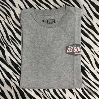 Kaos pendek as good supply co grey abu size large