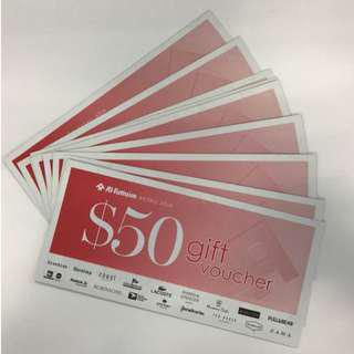 Up to $2,000 Al-futtaim Retail Asia Gift voucher @10% discount (Robinson, Zara, Bershika etc!)