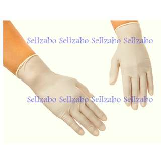 2 Pairs Hand Gloves : Disposable Latex Protection Cream Colour Sellzabo Hair Colouring Art Craft Protect