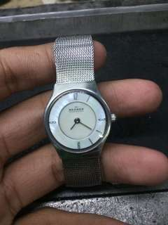 Skagen, Stainless steel, 2 hands, Japan Movement