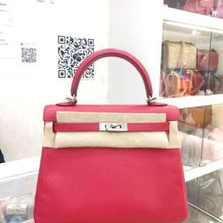 Hermes Kelly 25 Q5糖果紅