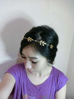 Head piece, headpiece gold bridal prewed, hiasan kepala