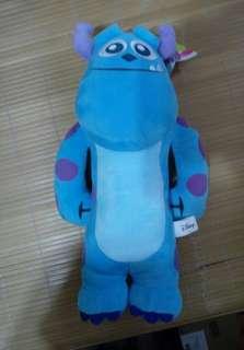 迪士尼角色 毛怪 長條娃娃 有雷射標