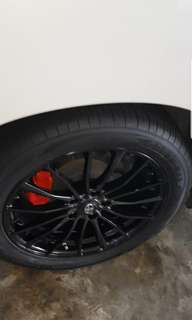 18 inch Rims (235/50R18) (5×114.3) + (New Tires) + (New Paint)