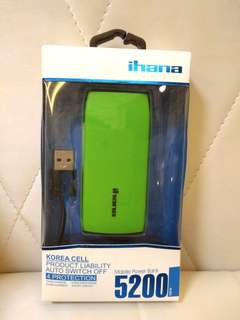 ihana Mobile Power Bank 5200 mAh