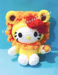 💕 Crochet Hello Kitty Horoscope (Leo)