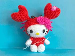 💕 Crochet Hello Kitty Horoscope (Cancer)