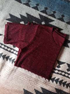 Glittery Red shirt (oversized)