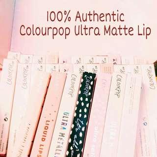 Authentic Colourpop Ultra Matte Lip