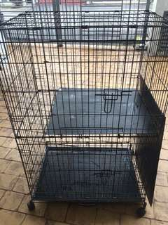 Double Deck Cage for Cat Pets