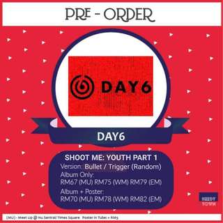 (PRE-ORDER) DAY6 - SHOOT ME : YOUTH PART 1