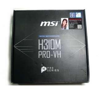 近全新 八代 MSI 微星 H310M PRO-VH Intel 1151 DD4 主機板 盒裝 保固內