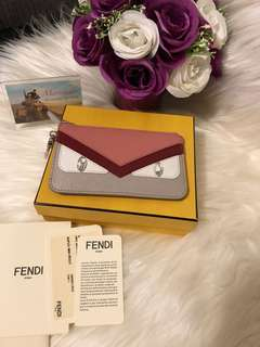 Fendi Pink Crayons Monster Key/Coin Pouch