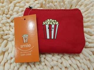 Smiley popcorn print purse