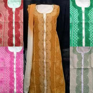 Chikan cotton suit