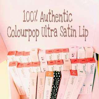 Authentic COLOURPOP Ultra Satin Lip