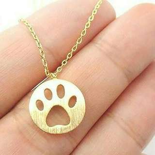 B1G1 Dog Paw Necklace