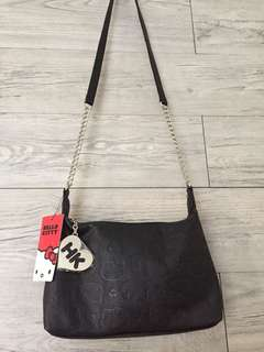 Hello Kitty bag with silver chain strap + keychain