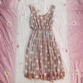 Polkadot Pink Vintage Dress