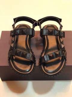 Valentino Garavani Leather Studded Sandal