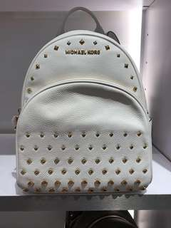 Brand New Original Michael Kors White Studded backpack