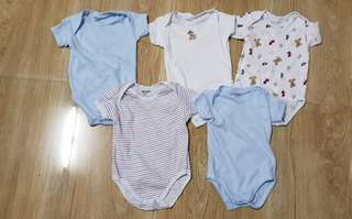 Carters 5piece onesies - washed but not used 3 to 6.mos