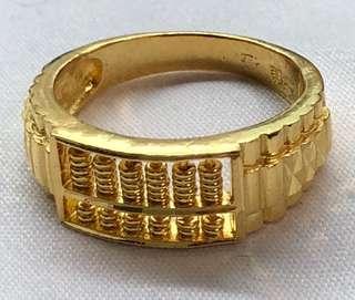 (Gold 916 - Gold Rings) + (Gold Bracelet - 999) ❤️