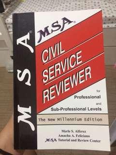 MSA CIVIL SERVICE EXAM REVIEWER
