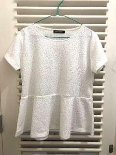 Main street - white baby doll shirt