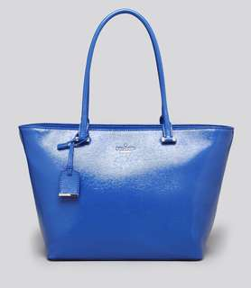 Kate Spade Cedar Street Small Harmony, Patent Leather, Orbit Blue, Brand New #ramadan50