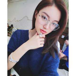 🚚 AP時尚眼鏡批發日韓珍珠腳架平光造型眼鏡甜美小清新