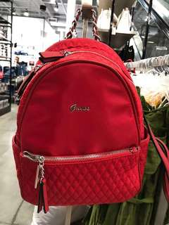 Brand New Original Guess USA Red Backpack