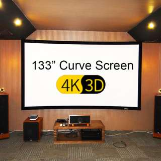 133 Inch Projector Curve Screen (4K/3D) 16:9 Ratio