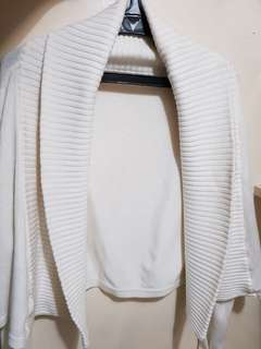 Women's Cropped Sweater (Off White / Ivory White)