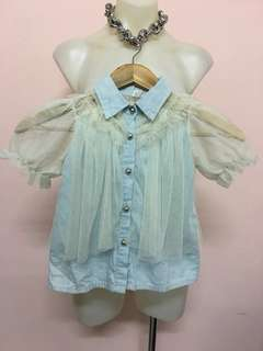 Lace/Denim Blouse for girl