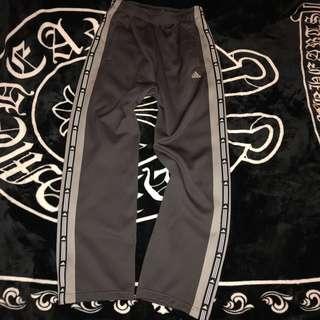🚚 古著 近全新 日本 Adidas 電繡LOGO 小串標 撞色 拼接 棉質 舒適 透氣 休閒褲 運動褲