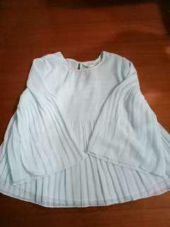 🚚 NET 水藍色上衣(155)