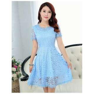 🍒 GSS SALES - Plus Size 4X Floral Lace Love A-line Summer Sweetheart Dolly Dress
