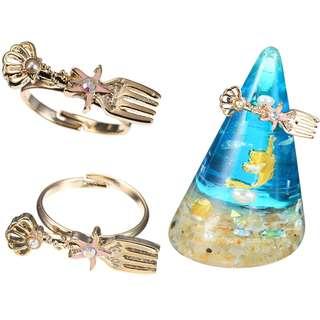 日本迪士尼代購 Ariel 小魚仙 戒指連戒指座