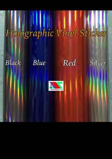 Holographic rainbow vinyl sticker