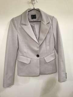 正韓—單扣米白色西裝外套