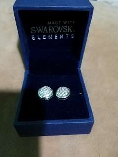Round Shaped Swarovski Earrings