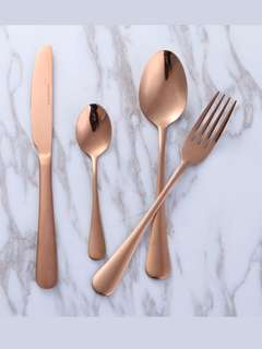 Sendok rosegold stainless steel cutlery set spoon fork