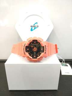* FREE DELIVERY * Brand New 100% Authentic Casio BabyG Tangerine Orange Baby G Watch Baby-G  BA-111-4A2DR