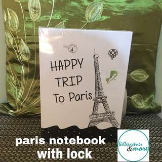 paris notebook with lock