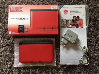 3DS XL Red/Black (Modded) With Box