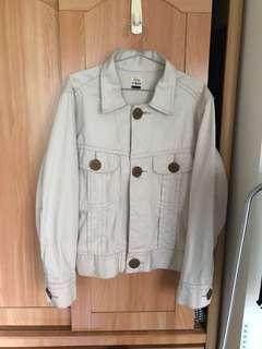 Lee 東京購買 大釦子細節 米白色 牛仔外套