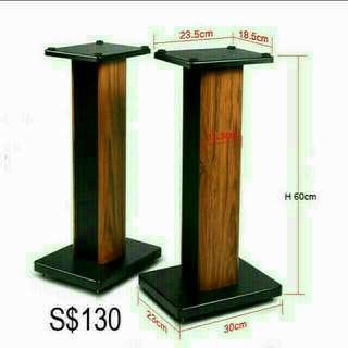 Brand new Wooden floor Speaker Stand - h 60cm
