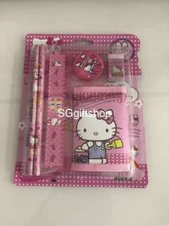 Hello kitty theme wallet stationary packages- students goodies bag, birthday celebration door gift